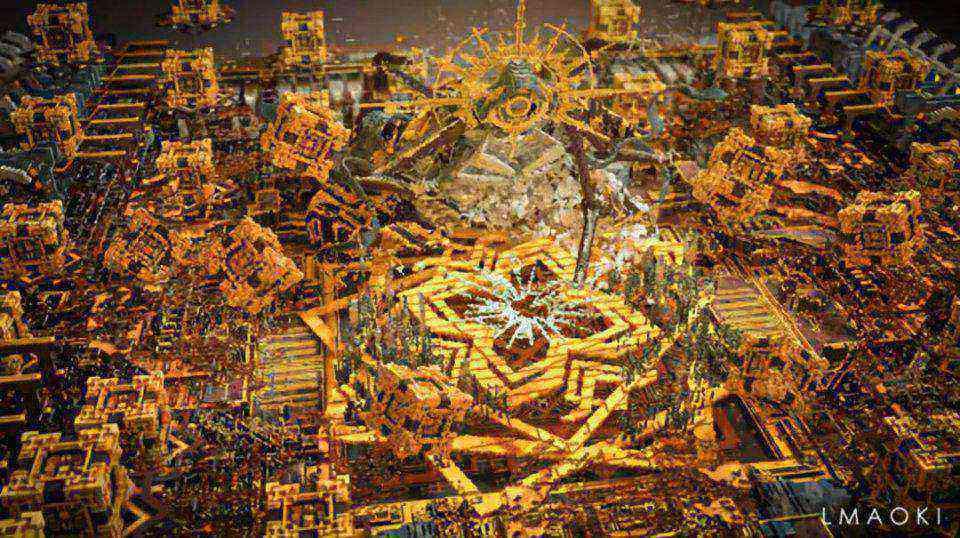 """《我的世界》细致到头发的建筑 大神600天造出""""神级""""城市"""