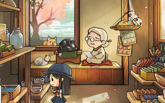 《昭和杂货店物语3》老奶奶与猫